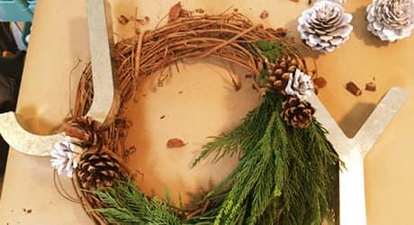 Attach Ribbon and Adorn the Wreath