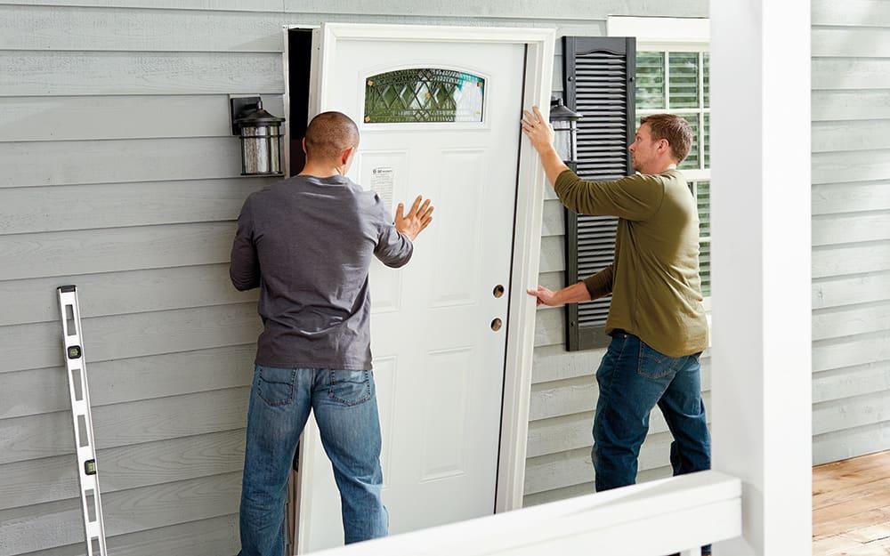 How To Install An Exterior Door The Home Depot