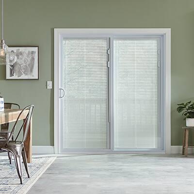 A sliding door inside a home