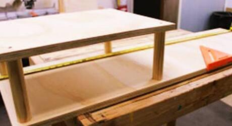 Construct top shelf - How Build Shoe Rack