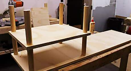 Secure legs - How to Build a Shoe Rack