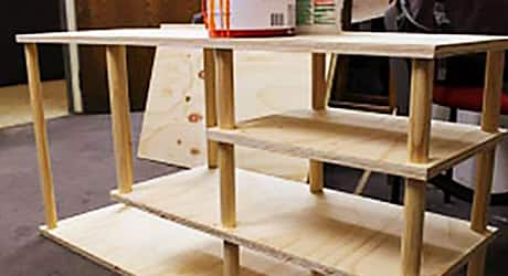 Apply paint or stain - How Build Shoe Rack