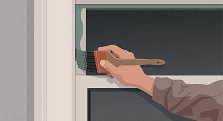 Paint the sash - Paint Exterior Windows