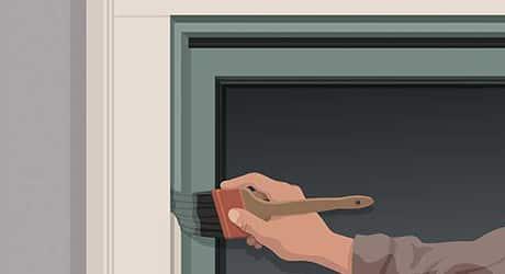 Paint stops jambs - Paint Exterior Windows