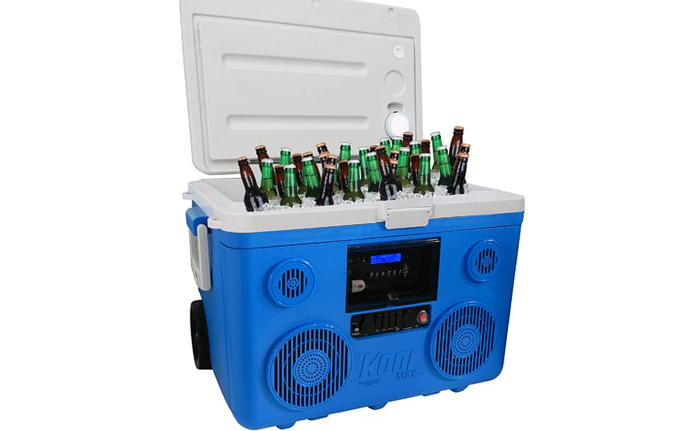 Cooler with speakers