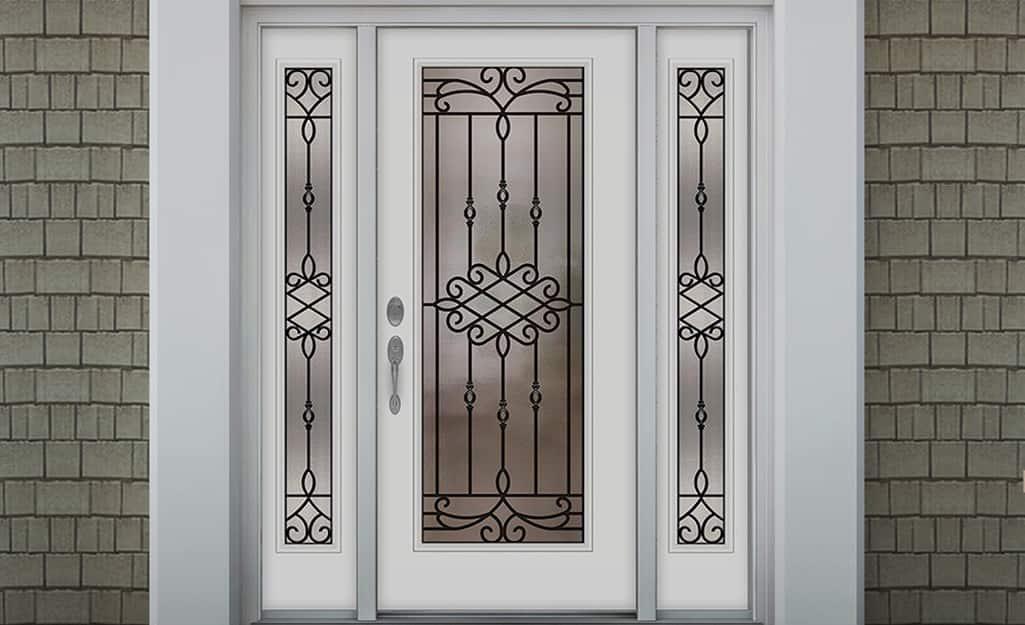 A steel exterior door.