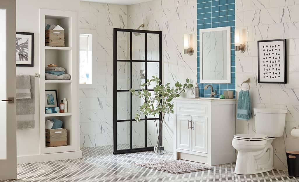 Porcelain Vs Ceramic Tiles The Home, Is Porcelain Or Ceramic Tile Better For Bathrooms