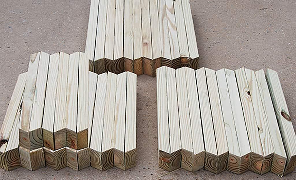 Mark and Cut Wood