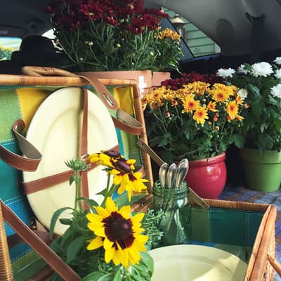 Game Day Flowers for College Football Tailgating