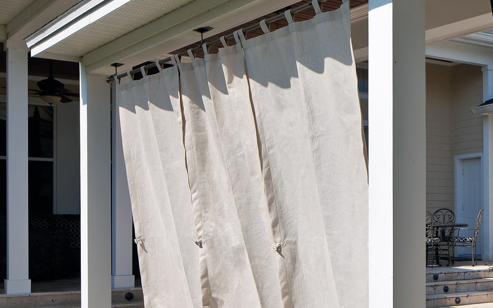 Choosing And Hanging Outdoor Curtains, What Is The Best Material For Outdoor Curtains