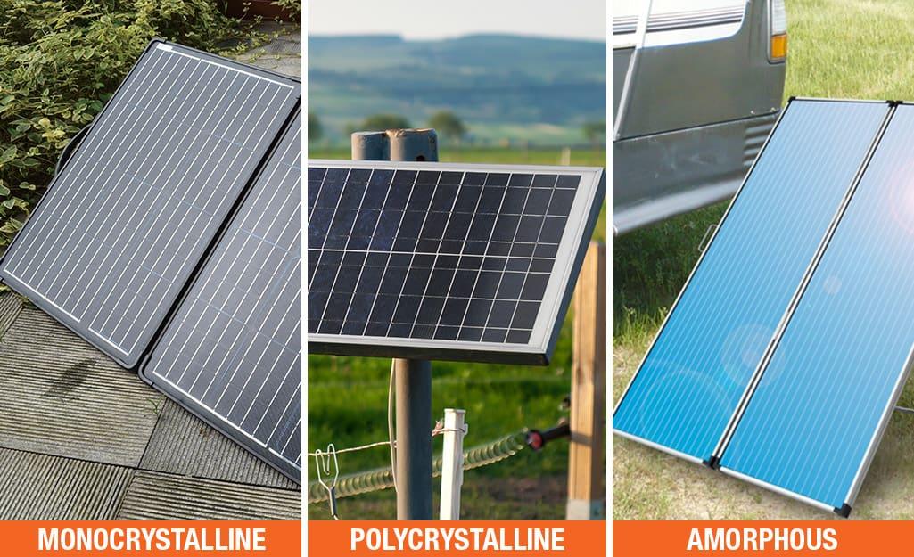 The three types of solar cells