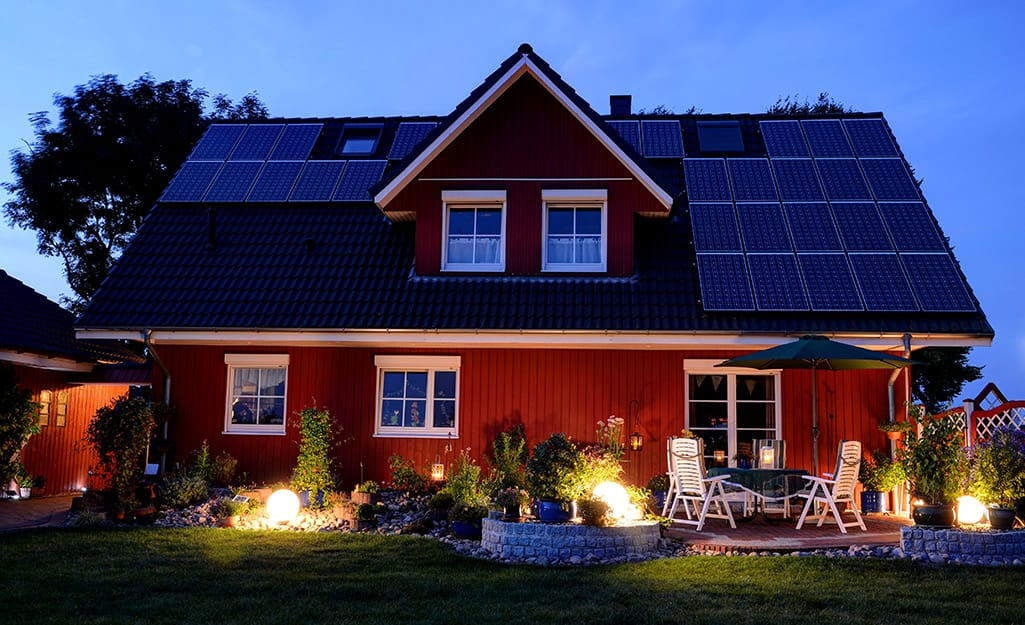 How solar panels work at night