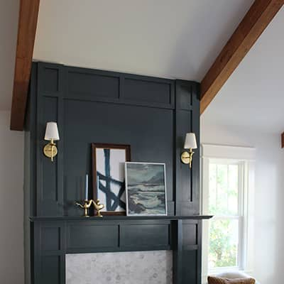 How to Build a Faux Fireplace Mantel and Surround