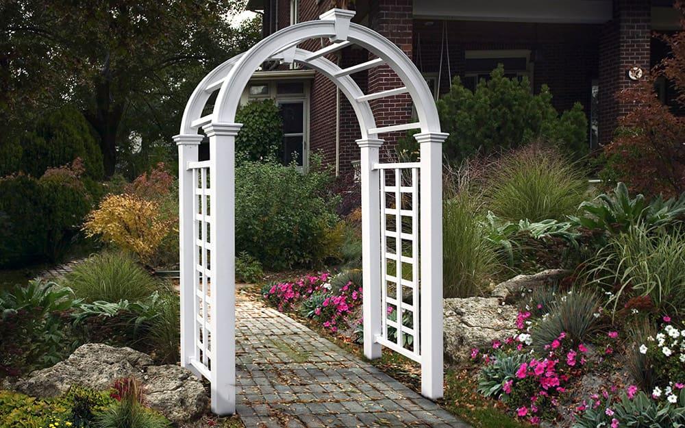How To Build A Garden Arbor The Home Depot