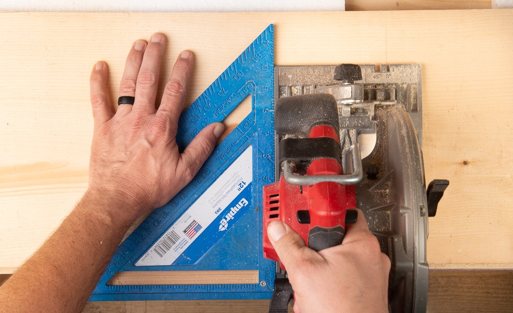 Two tools used to build a DIY kids cubby.