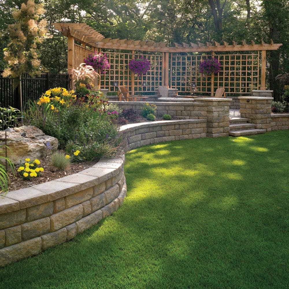 How To Build A Retaining Wall The Home Depot