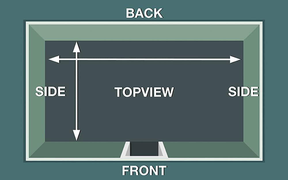 A diagram showing measurements for a DIY closet system organizer.