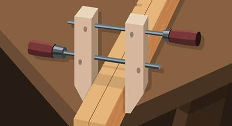 build the four end shelf supports