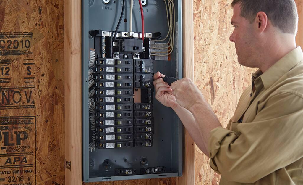 Wiring main service panel