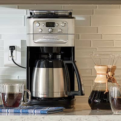 A coffee maker on a kitchen counter.