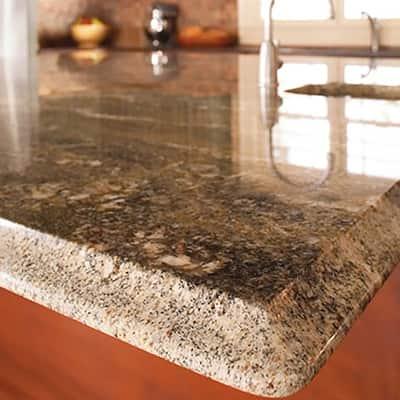 A clean granite countertop