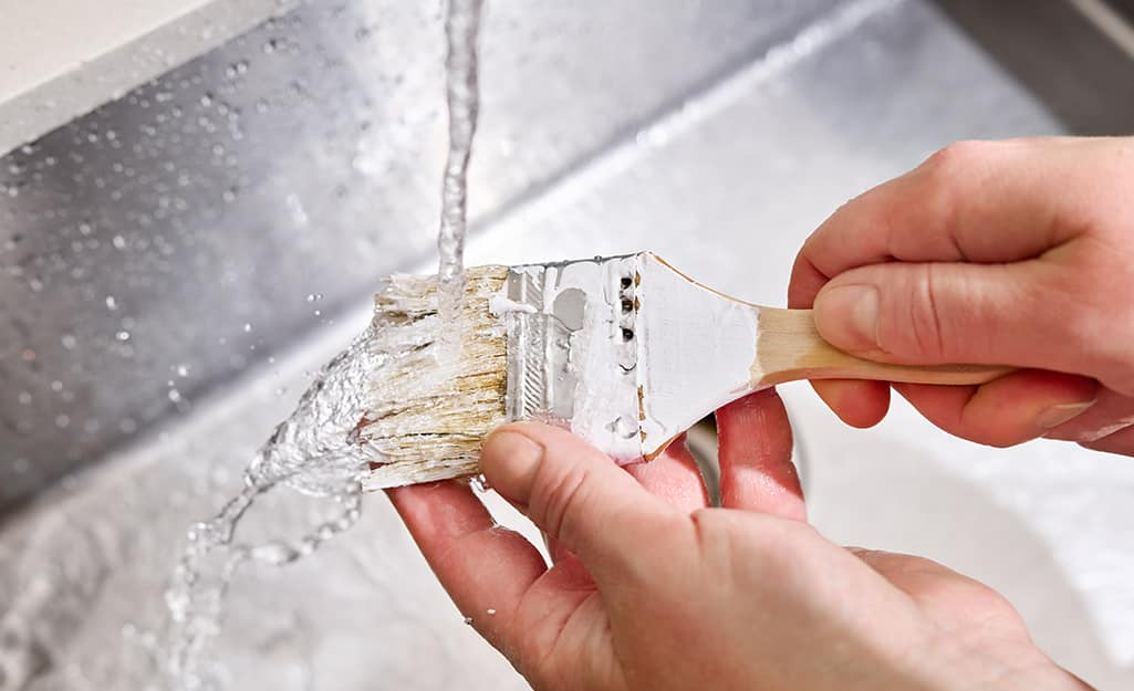 How to Clean Paint Brushes  with water