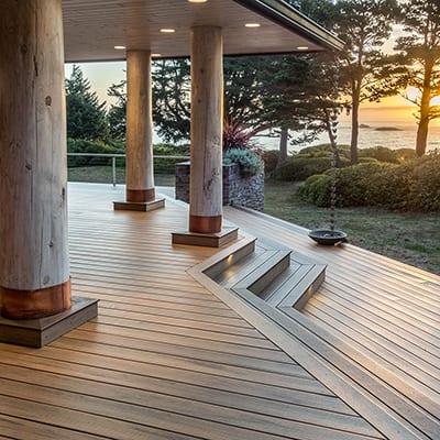 An outdoor deck