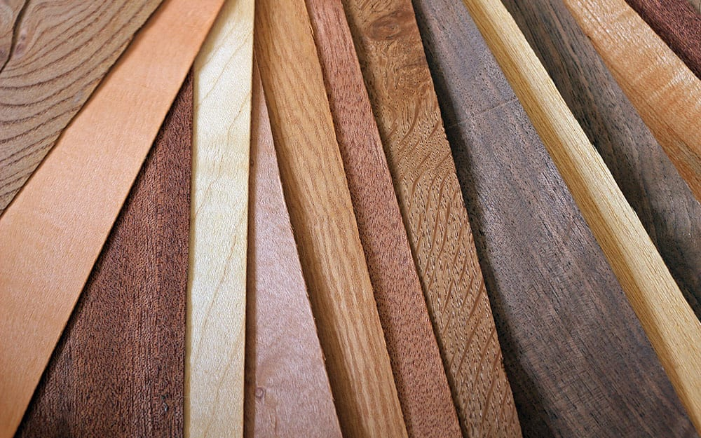 an array of different types of wood