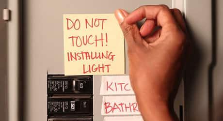 Turn power off - Install Bath Vanity Light