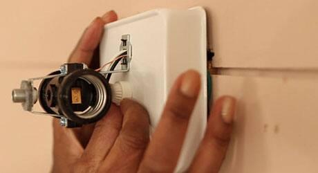 Remove bulbs mounting bracket - Install Bath Vanity Light