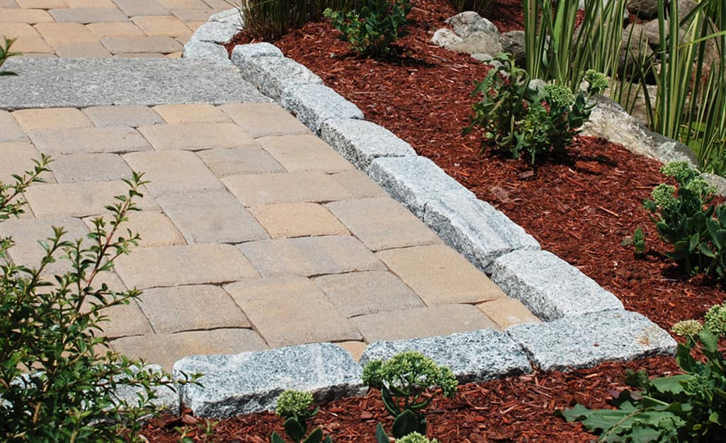How To Install A Brick Paver Edge The Home Depot