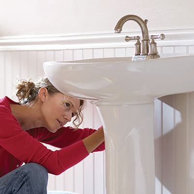 How To Install A Pedestal Sink The Home Depot