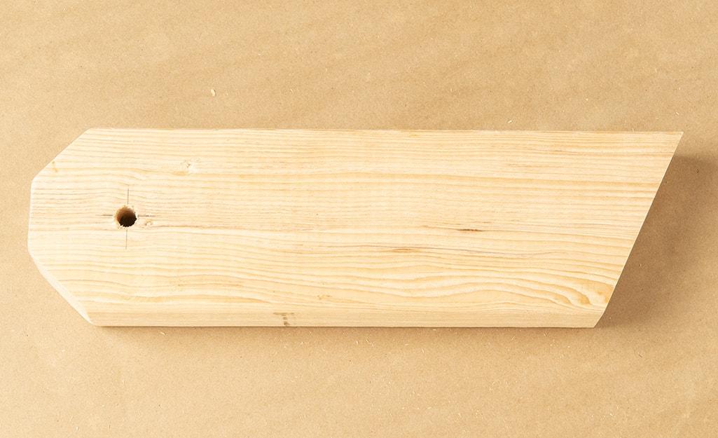 A finished leg of a cornhole board.