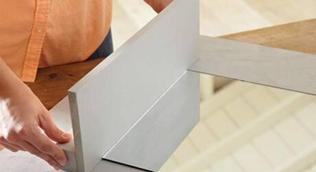 ATTACH SHELF  - How Make Mosaic Tile Mirror