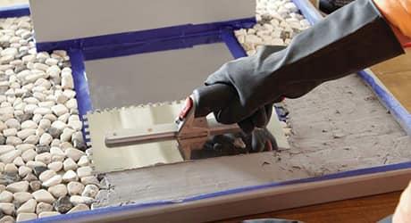 APPLY GROUT  - Make Mosaic Tile Mirror