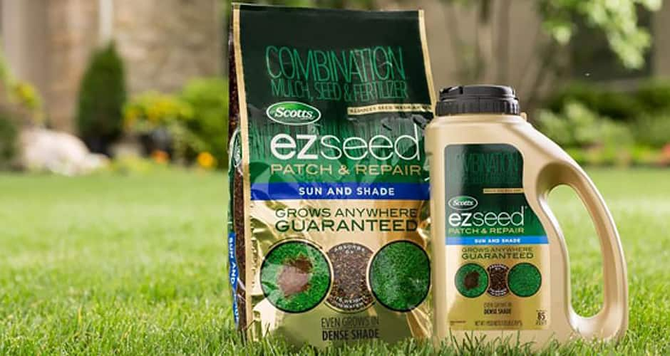EZ Seed products on a lawn