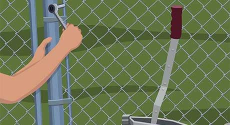Repairing a chain-link fence - Repairing  Maintaining Fences and Gates