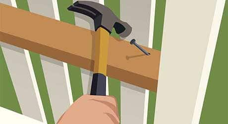 Add support loose fence - Repairing  Maintaining Fences and Gates