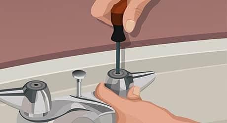 Remove handle and valve - Replacing Worn Valve Seat