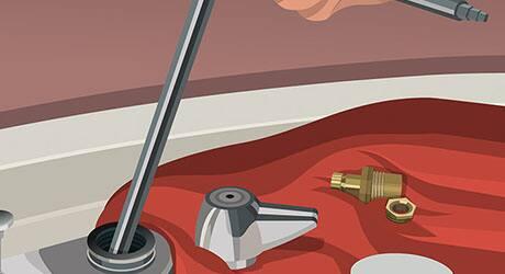 Remove old valve seat - Replacing Worn Valve Seat