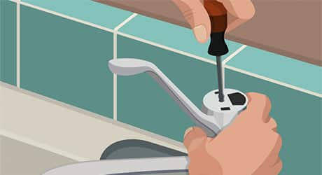 Remove faucet handle - How Replace Cartridge Sink Faucets