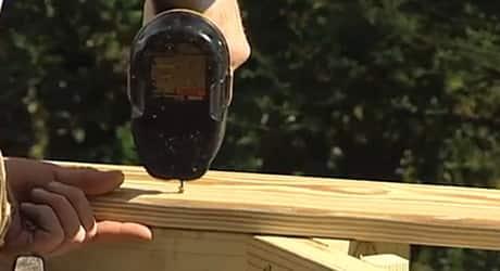 Attach the rails  - Replacing a Deck Railing
