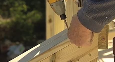 Attach rails stairway posts  - Replacing a Deck Railing