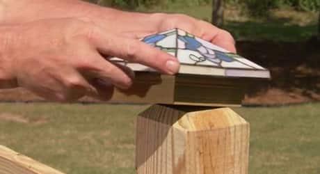 Attach the cap - Replacing a Deck Railing