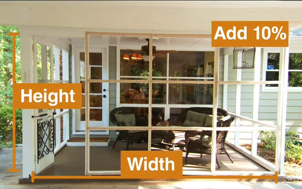 How To Screen In A Porch The Home Depot, How To Screen In A Patio Porch