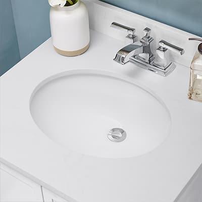 a close up of a bathroom sink