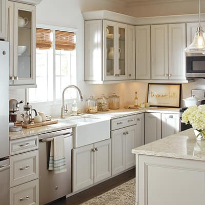Get a bright, new kitchen without a remodel. This Home Depot project guide gives you low-cost ways to update your kitchen cabinets like painting or refacing.