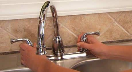 How To Install A Kitchen Faucet And Side Sprayer The Home Depot