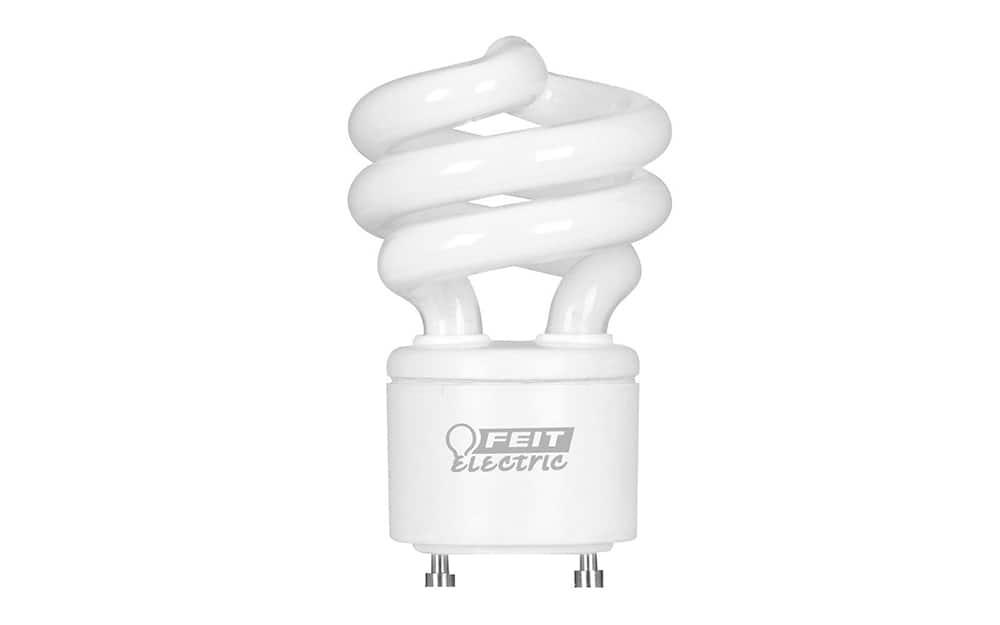 A GU24 two-pin socket light bulb.