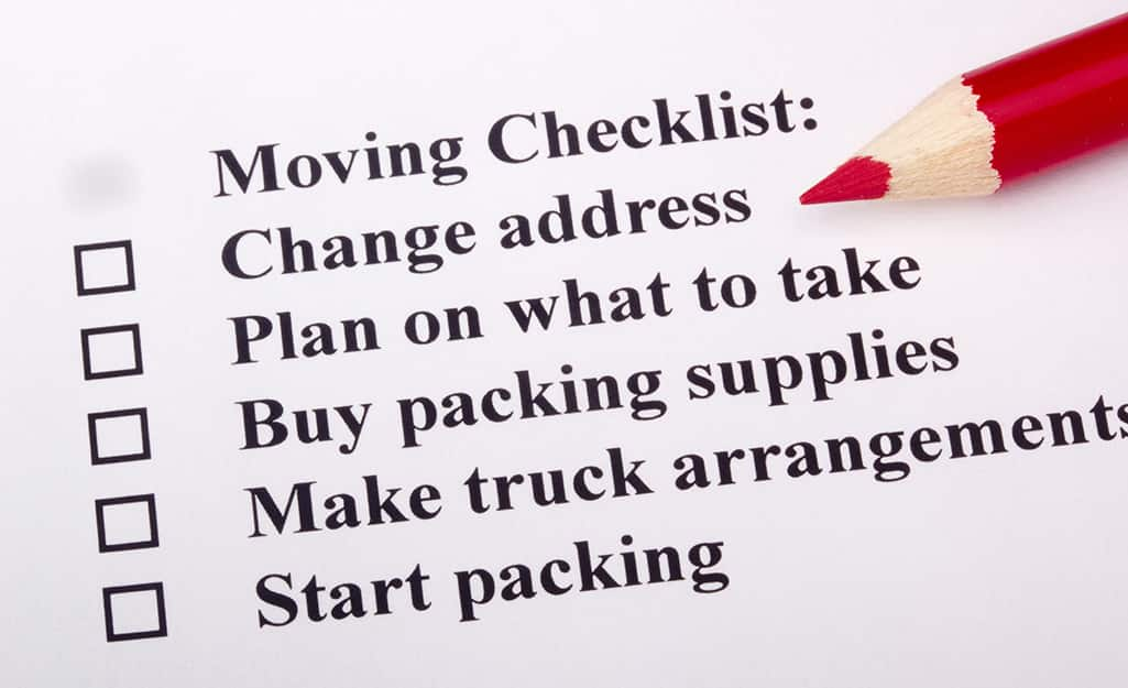A moving checklist shows tasks to complete.